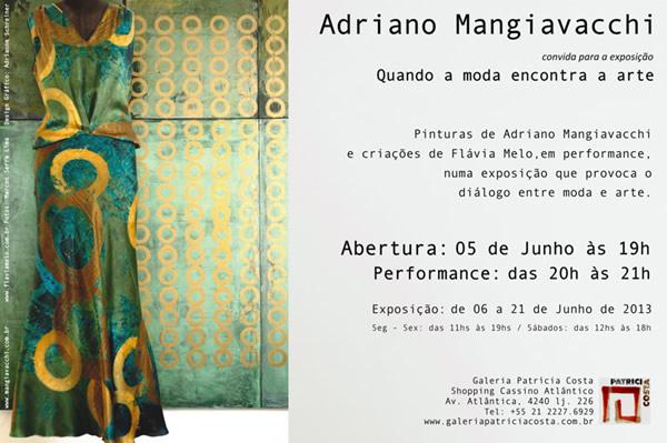 Convite da exposição Quando a moda encontra a arte
